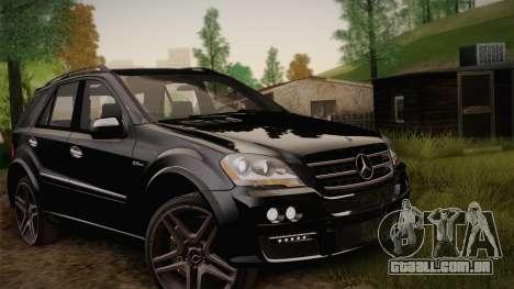 Mercedes-Benz ML63 para GTA San Andreas vista interior