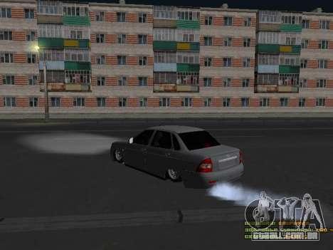 VAZ 2170 para GTA San Andreas traseira esquerda vista