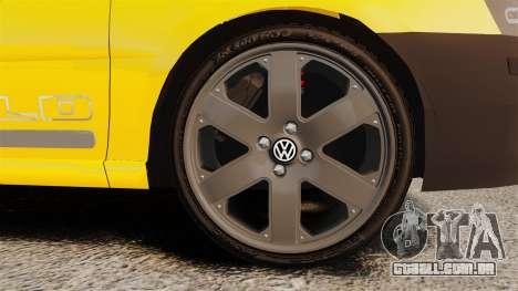 Volkswagen Parati G4 Track and Field 2013 para GTA 4 vista de volta