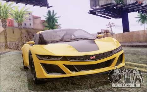 GTA V Dinka Jester IVF para GTA San Andreas esquerda vista