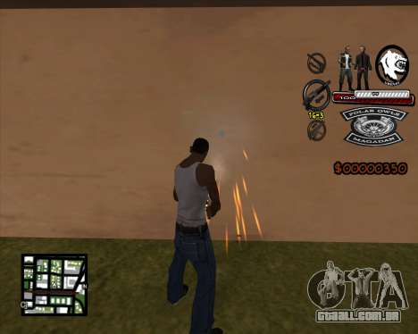 C-HUD Bikers para GTA San Andreas segunda tela