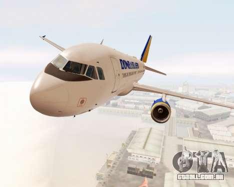 A Airbus A320-200 Donbassaero para GTA San Andreas vista interior