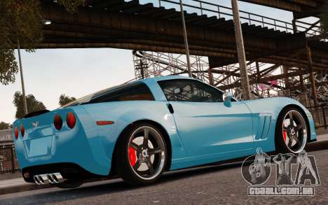 Chevrolet Corvette Grand Sport 2010 para GTA 4 vista inferior