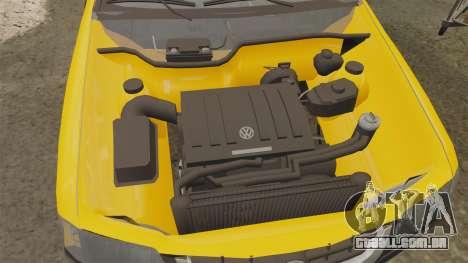 Volkswagen Parati G4 Track and Field 2013 para GTA 4 vista interior