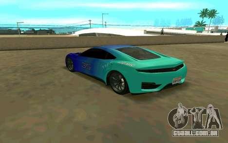 GTA V Dinka Jester para GTA San Andreas traseira esquerda vista