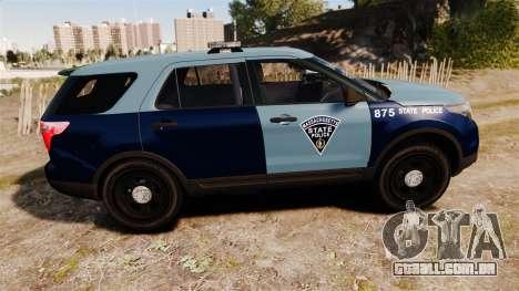 Ford Explorer 2013 MSP [ELS] para GTA 4 esquerda vista