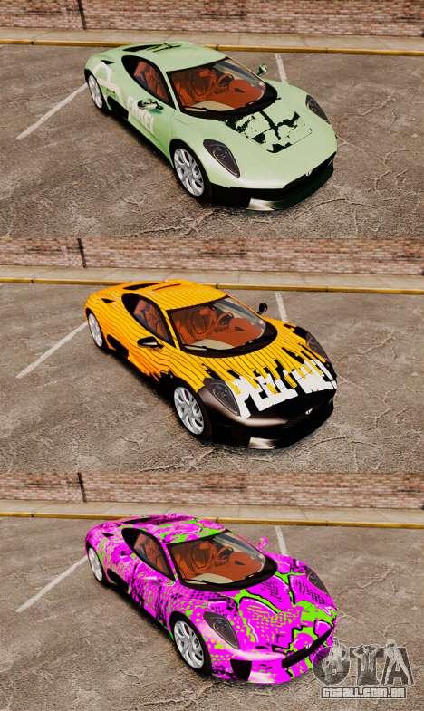 Jaguar C-X75 2014 [EPM] para GTA 4 vista inferior
