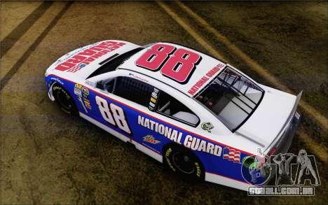 Chevrolet SS NASCAR Sprint Cup 2013 para GTA San Andreas traseira esquerda vista