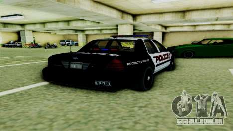 Ford Crown Victoria Police Interceptor para GTA San Andreas vista direita