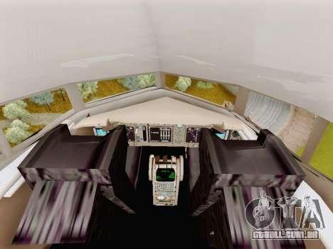 Boeing 767-300 para GTA San Andreas vista traseira