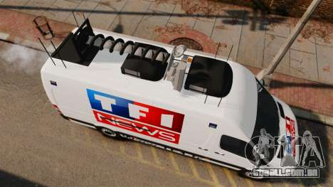 Mercedes-Benz Sprinter TF1 News [ELS] para GTA 4 vista direita