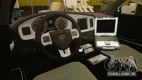 Dodge Charger 2013 Patrol Supervisor [ELS] para GTA 4 vista de volta