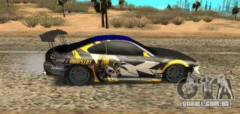 Nissan Silvia S15 Drift Industry para GTA San Andreas traseira esquerda vista