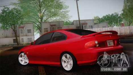 Pontiac GTO 2005 para GTA San Andreas esquerda vista