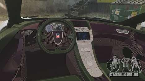 GTA Spano para GTA 4 vista interior