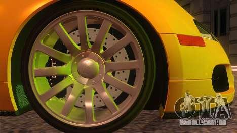 Bugatti Veyron 2009 para GTA San Andreas traseira esquerda vista