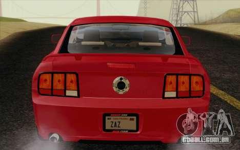 Ford Mustang GT 2005 para GTA San Andreas vista traseira