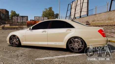 Mercedes-Benz S65 (W221) AMG para GTA 4 esquerda vista