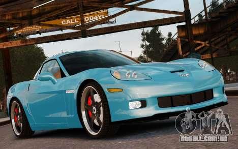 Chevrolet Corvette Grand Sport 2010 para GTA 4 vista superior