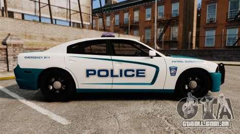 Dodge Charger 2013 Patrol Supervisor [ELS] para GTA 4 esquerda vista
