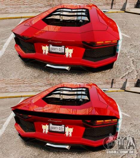 Lamborghini Aventador LP700-4 2012 [EPM] Miku 2 para GTA 4 vista inferior