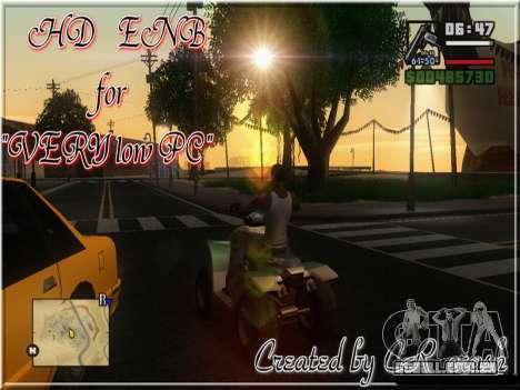 HD ENB for very low PC para GTA San Andreas
