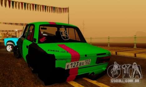 BMWAZ para GTA San Andreas traseira esquerda vista