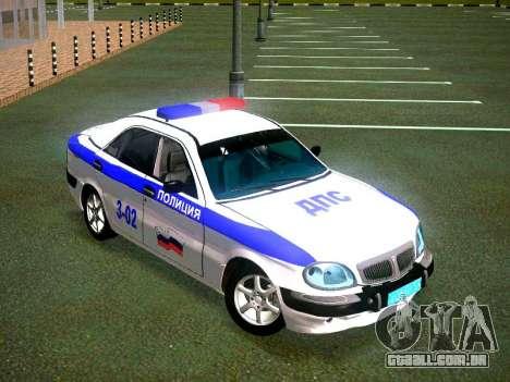 Volga GAZ 3111 DPS para GTA San Andreas vista direita