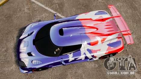 Koenigsegg One:1 para GTA 4 vista direita