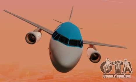 Airbus A319 KLM para GTA San Andreas vista inferior