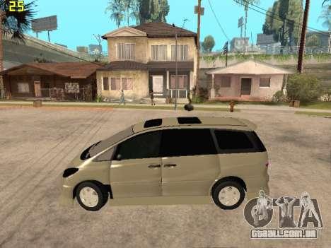 Toyota Estima Altemiss 2wd para GTA San Andreas esquerda vista