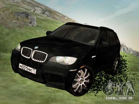 BMW X5M E70 2010 para GTA San Andreas vista interior