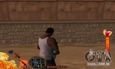 C-HUD Fire para GTA San Andreas segunda tela