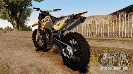 KTM 450 EXC Monster Energy para GTA 4 vista direita