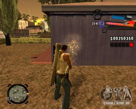 O novo C-HUD para GTA San Andreas terceira tela