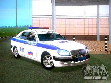 Volga GAZ 3111 DPS para GTA San Andreas traseira esquerda vista