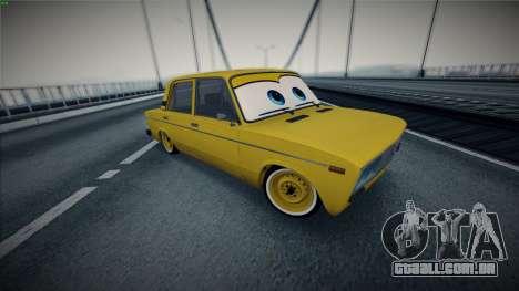 VAZ 2106 pela Carros para GTA San Andreas vista traseira