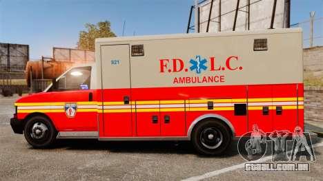 Brute Speedo FDLC Ambulance [ELS] para GTA 4 esquerda vista