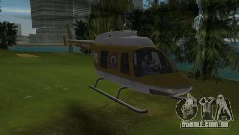 Helicóptero da polícia do GTA VCS para GTA Vice City deixou vista