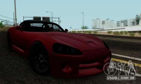 Dodge Viper SRT-10 para GTA San Andreas vista interior