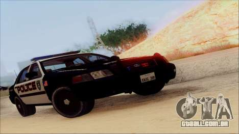 Ford Crown Victoria Police Interceptor para vista lateral GTA San Andreas