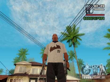 A metralhadora UZI para GTA San Andreas sexta tela