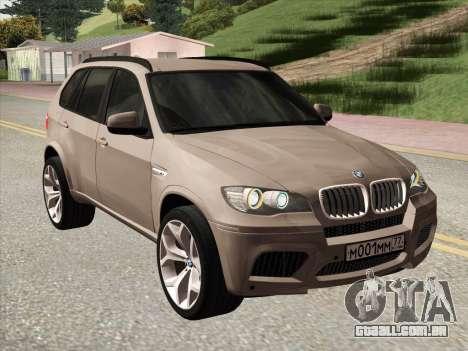 BMW X5M E70 2010 para GTA San Andreas