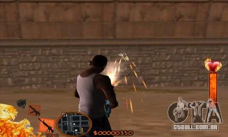 C-HUD Fire para GTA San Andreas terceira tela