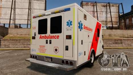 Brute Speedo RLMS Ambulance [ELS] para GTA 4 traseira esquerda vista