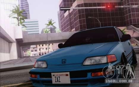 Honda CRX Low Gang para GTA San Andreas vista interior
