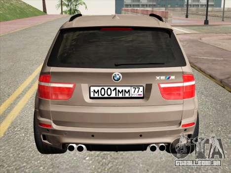 BMW X5M E70 2010 para GTA San Andreas vista traseira
