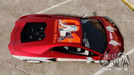 Lamborghini Aventador LP700-4 2012 [EPM] Miku 2 para GTA 4 vista direita