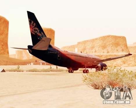Boeing 737-500, a Aeroflot Nord para GTA San Andreas vista traseira