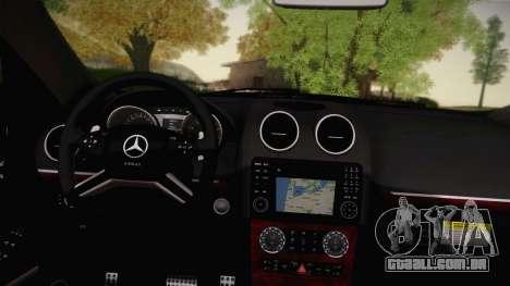 Mercedes-Benz ML63 para GTA San Andreas vista traseira